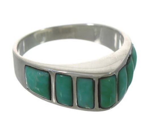 Sterling Silver Southwest Turquoise Jewelry Ring Size 7-3/4 VX36542