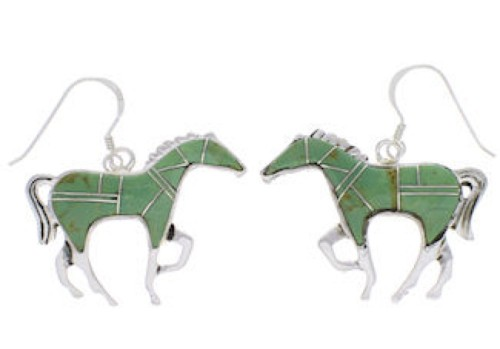 Horse Sterling Silver Turquoise Earrings FX31847