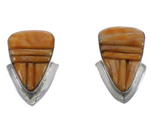Silver And Oyster Shell Post Earrings TX43289