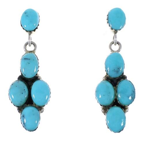 Turquoise Southwest Silver Earrings EX42665