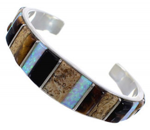 Whiterock Rocky Trails Multicolor Inlay Cuff Bracelet FX27855
