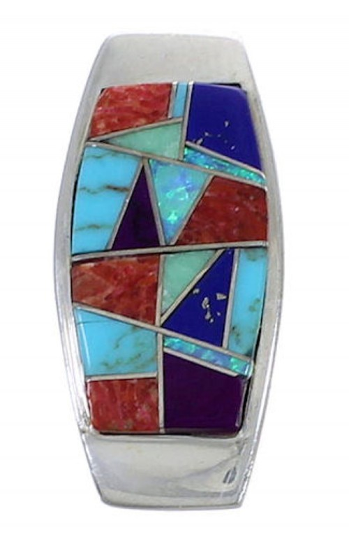 Southwest Multicolor Inlay Pendant PX42504