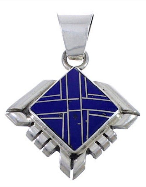 Southwest Jewelry Man Made Lapis Pendant PX42528