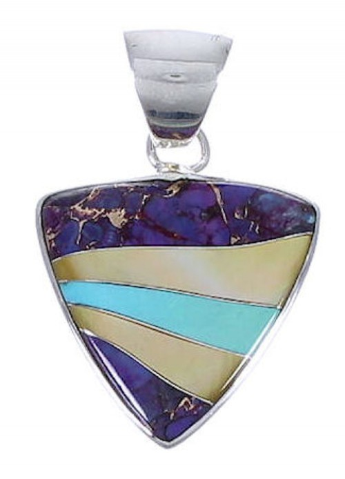 Genuine Sterling Silver And Multicolor Jewelry Slide Pendant PX29232
