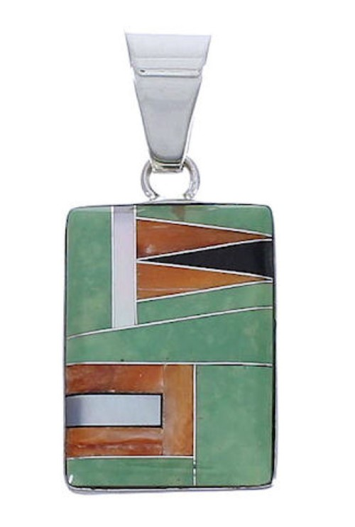 Sterling Silver And Multicolor Jewelry Slide Pendant PX29263