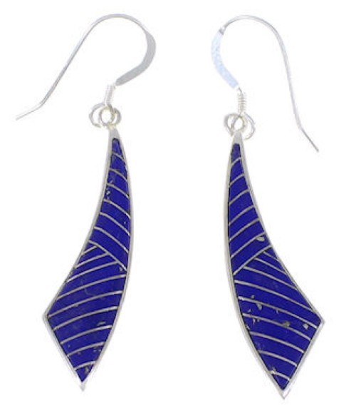 Man Made Lapis Southwest Earrings EX43440