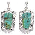 Sterling Silver And Turquoise Jewelry Earrings PX31711