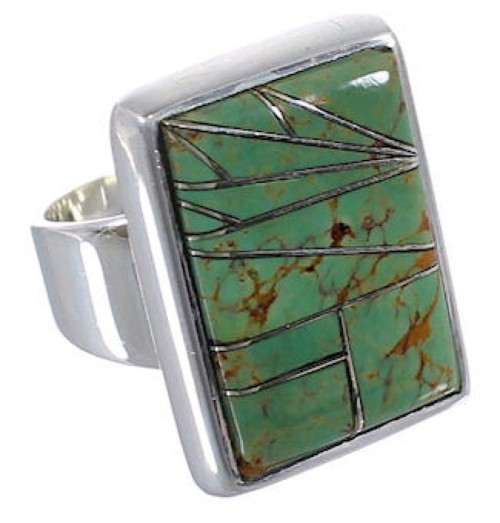 Substantial Sterling Silver Turquoise Jewelry Ring Size 5-3/4 WX37445