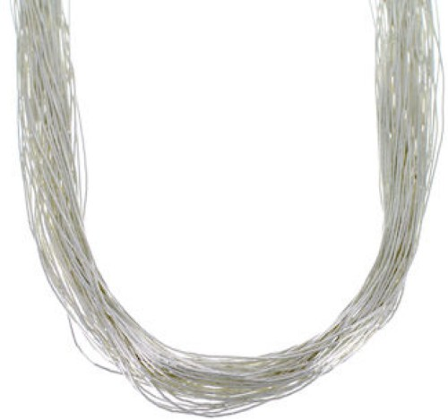 "Liquid Sterling Silver 50 Strands 20"" Necklace Jewelry LS5020"