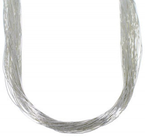 "Stunning Liquid Sterling Silver 50 Strands 30"" Necklace LS5030"