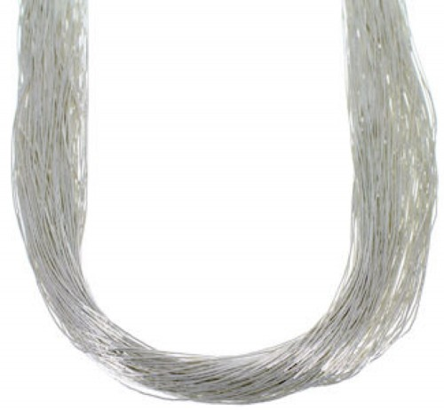 "Liquid Sterling Silver 100 Strands 30"" Necklace Jewelry LS10030"