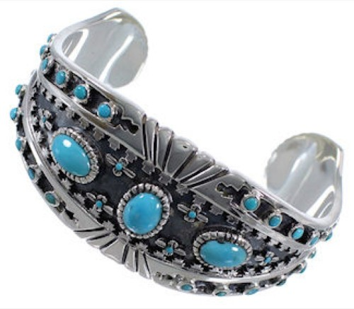 Turquoise Southwest High Quality Silver Cuff Bracelet Jewelry EX28252