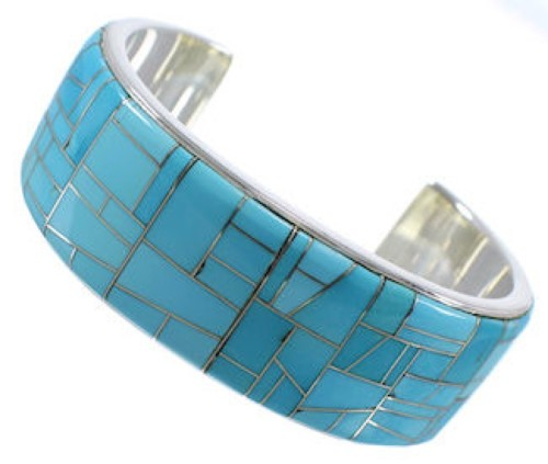 Southwestern Turquoise Silver High Quality Cuff Bracelet CX49609