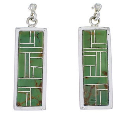 Sterling Silver And Turquoise Inlay Earrings EX31482