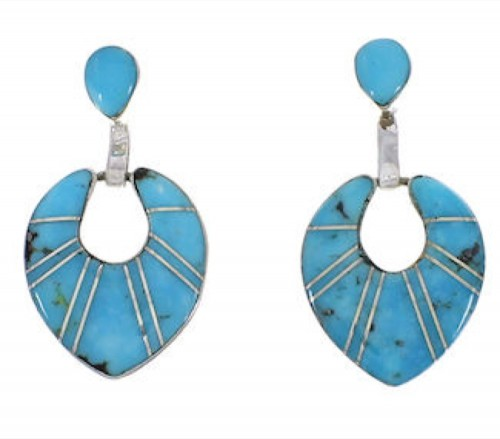Sterling Silver And Turquoise Jewelry Earrings EX31509