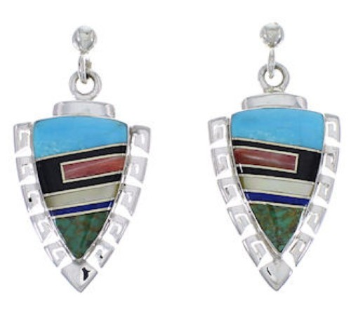 Multicolor And Genuine Sterling Silver Earrings EX31529