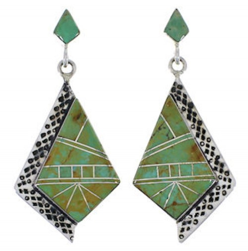 Southwestern Jewelry Turquoise Inlay Earrings EX31535