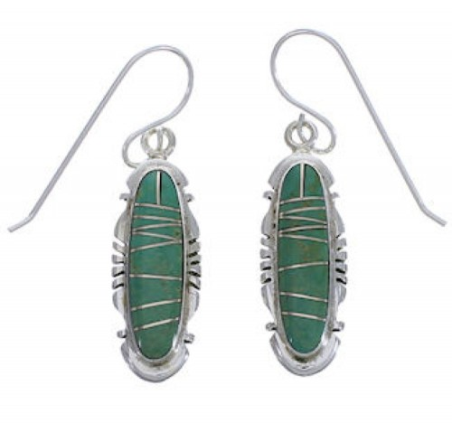 Silver Southwest Turquoise Inlay Earrings FX31402
