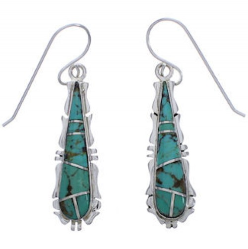Southwest Silver Jewelry Turquoise Inlay Earrings FX31421
