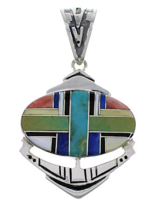 Southwestern Multicolor Inlay Pendant PX29050