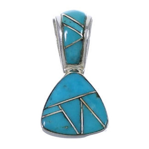 Southwestern Sterling Silver And Turquoise Pendant EX30467