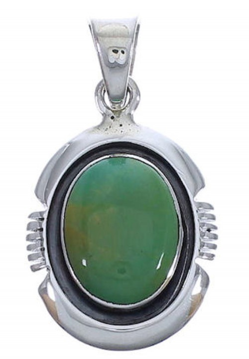 Genuine Sterling Silver Turquoise Jewelry Pendant EX30474