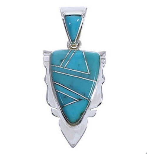 Turquoise Genuine Sterling Silver Slide Pendant EX30554