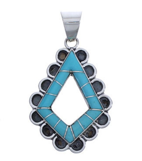 Genuine Sterling Silver And Turquoise Jewelry Pendant EX30589