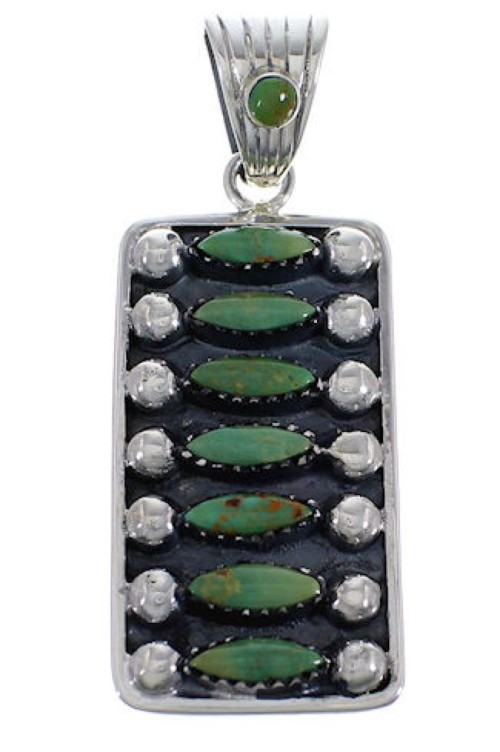 Turquoise And Genuine Sterling Silver Pendant EX28824