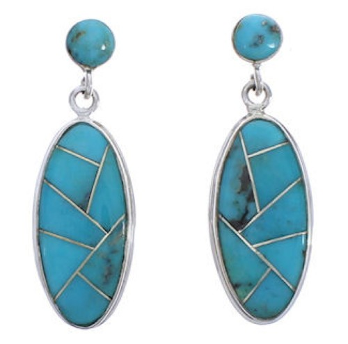 Sterling Silver Turquoise Southwest Jewelry Earrings PX30694