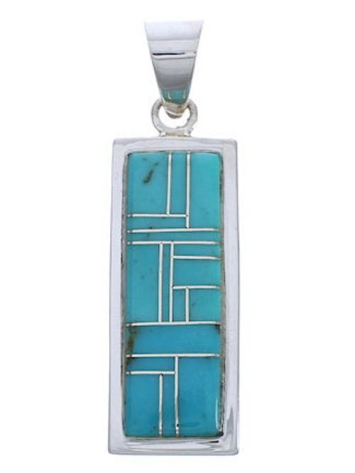 Genuine Sterling Silver Turquoise Slide Pendant EX29179