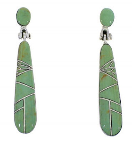 Turquoise Inlay Southwestern Earrings EX31689