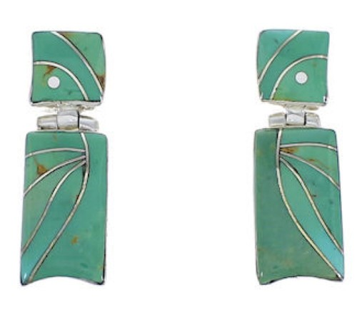 Southwest  Turquoise And Sterling Silver Earrings EX31702