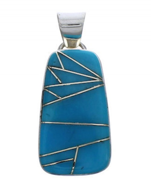 Southwest Substantial Silver And Turquoise Pendant PX29353