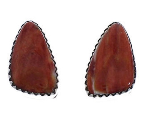 Navajo Silver Jewelry Oyster Shell Post Earrings PX31510
