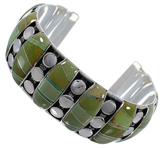 Sterling Silver Turquoise Well-Built Cuff Bracelet TX40596