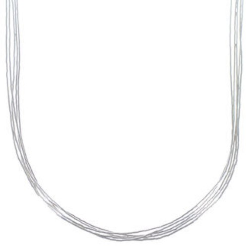 "Genuine Liquid Sterling Silver 5 Strands 24"" Necklace Jewelry LS524"