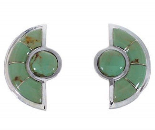 Southwest Silver and Turquoise Post Earrings AX49312