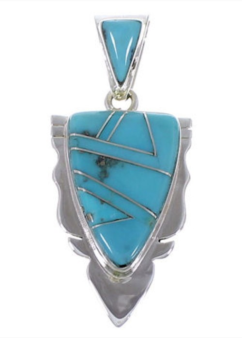 Turquoise Genuine Sterling Silver Jewelry Pendant AX49371