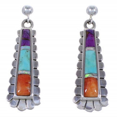 Oyster Shell Multicolor Jewelry Sterling Silver Post Earrings RS39628