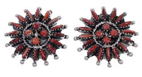 Red Oyster Shell Jewelry Genuine Sterling Silver Post Earrings RS37564