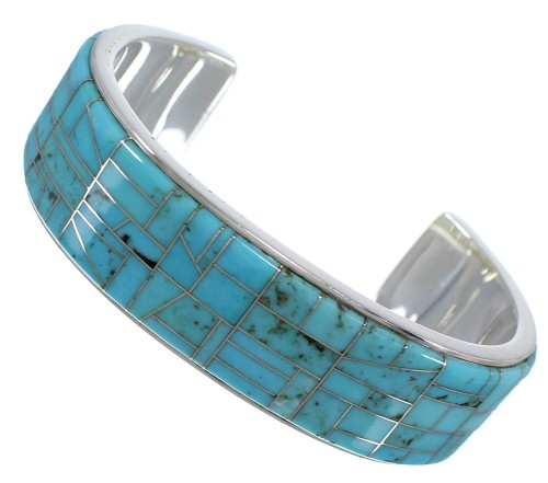 Turquoise And Silver Cuff Bracelet TX39719