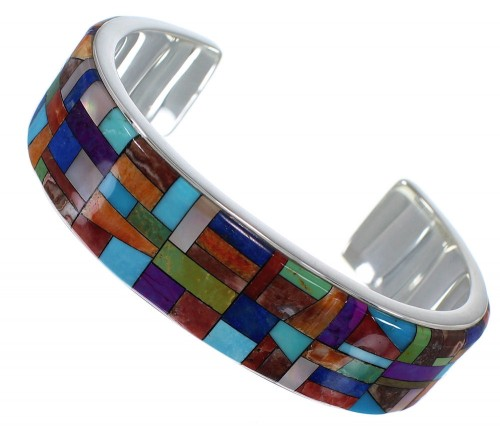 Multicolor And Sterling Silver Bracelet TX39723