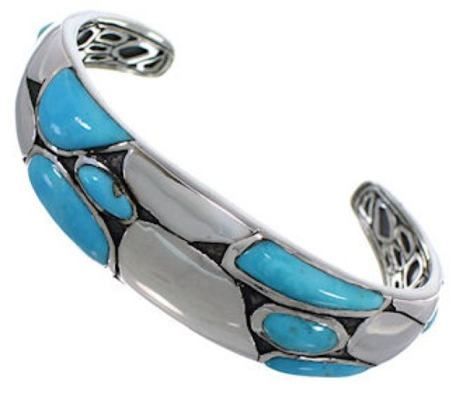 Southwest Silver And Turquoise Cuff Bracelet TX39588