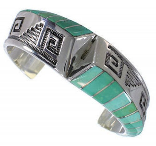 Sterling Silver And Turquoise Cuff Bracelet Jewelry PX27908