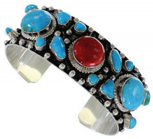 Turquoise And Red Oyster Shell Bracelet Jewelry GS57679