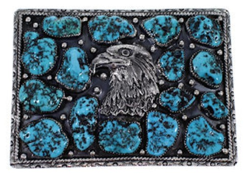 Eagle Turquoise Southwest Silver Belt Buckle GS57735