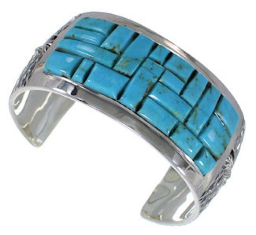 Southwest Jewelry Turquoise Sterling Silver Cuff Bracelet MX27109