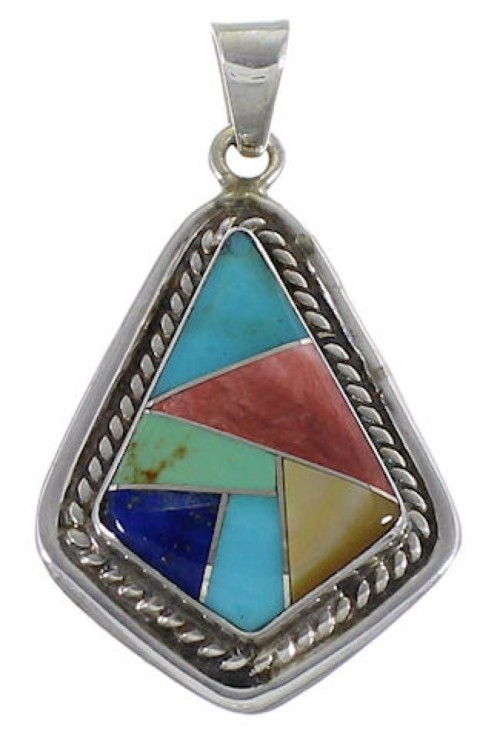 Genuine Sterling Silver And Multicolor Slide Pendant EX29612