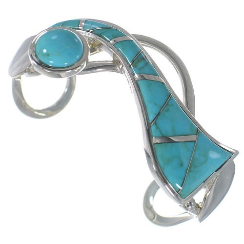 Turquoise And Silver Southwestern Bracelet TX40248